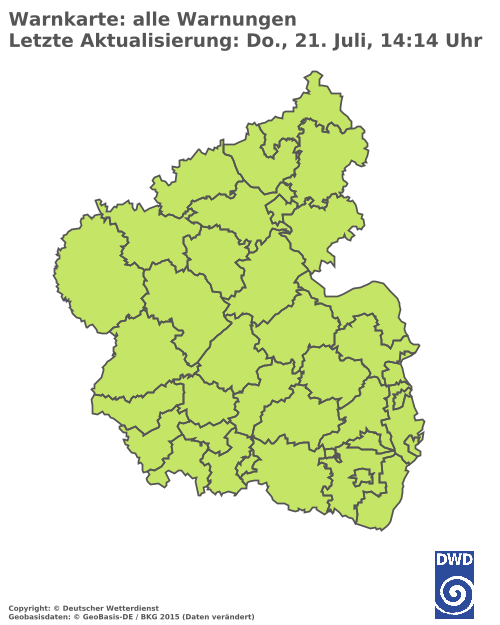 Aktuelle Wetterwarnungen für Mayen-Koblenz